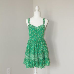 Green Floral LC Dress